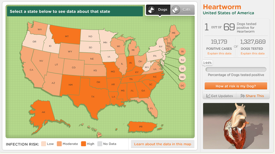 Heartworm Prevalence Map